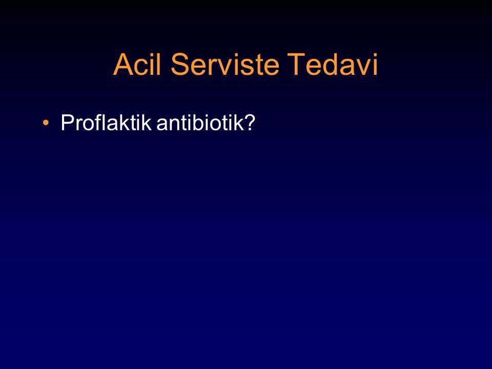Acil Serviste Tedavi Proflaktik antibiotik