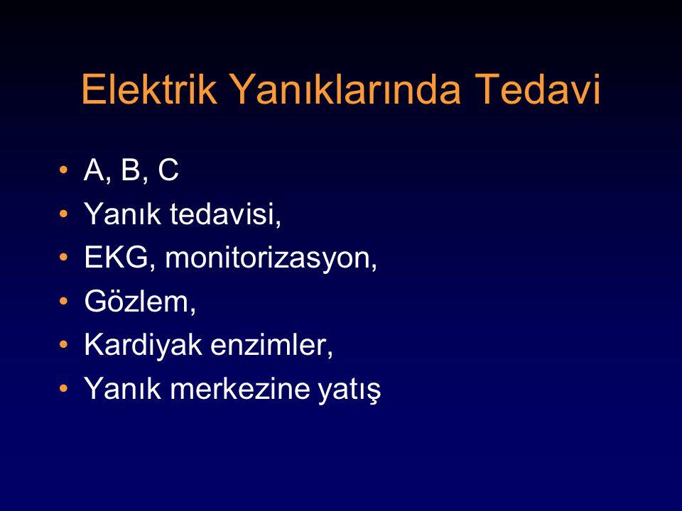 Elektrik Yanıklarında Tedavi