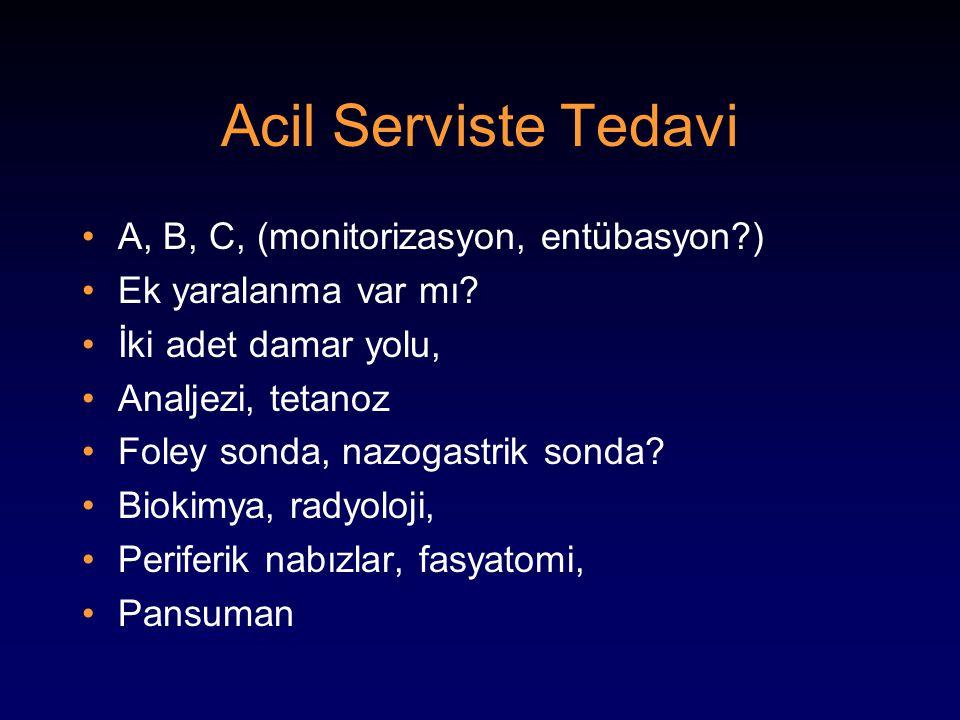 Acil Serviste Tedavi A, B, C, (monitorizasyon, entübasyon )