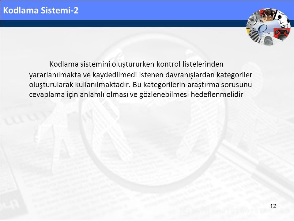 Kodlama Sistemi-2