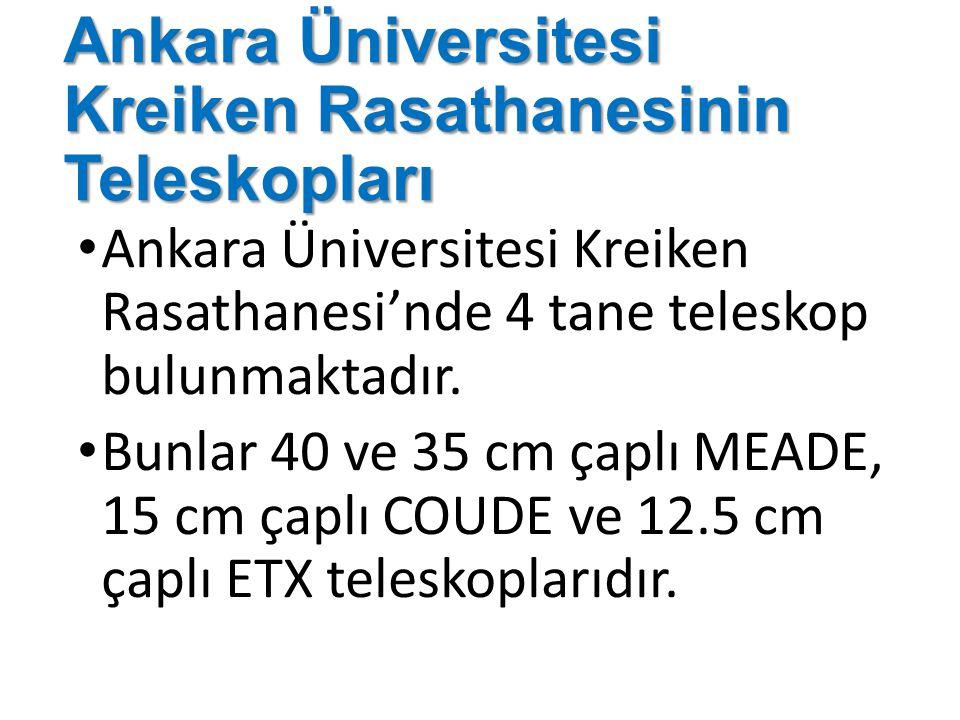 Ankara Üniversitesi Kreiken Rasathanesinin Teleskopları