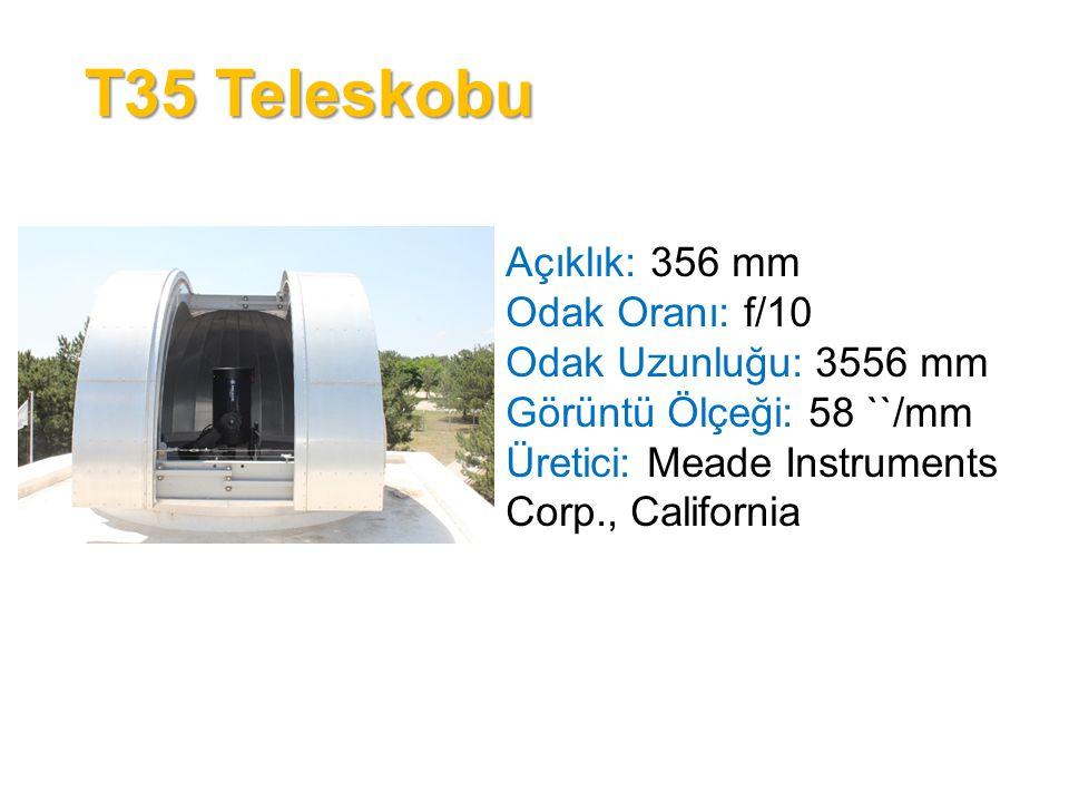 T35 Teleskobu Açıklık: 356 mm Odak Oranı: f/10 Odak Uzunluğu: 3556 mm