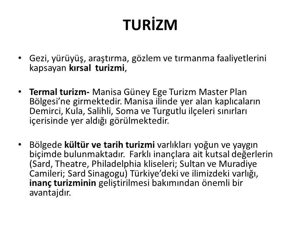 TURİZM Gezi, yürüyüş, araştırma, gözlem ve tırmanma faaliyetlerini kapsayan kırsal turizmi,