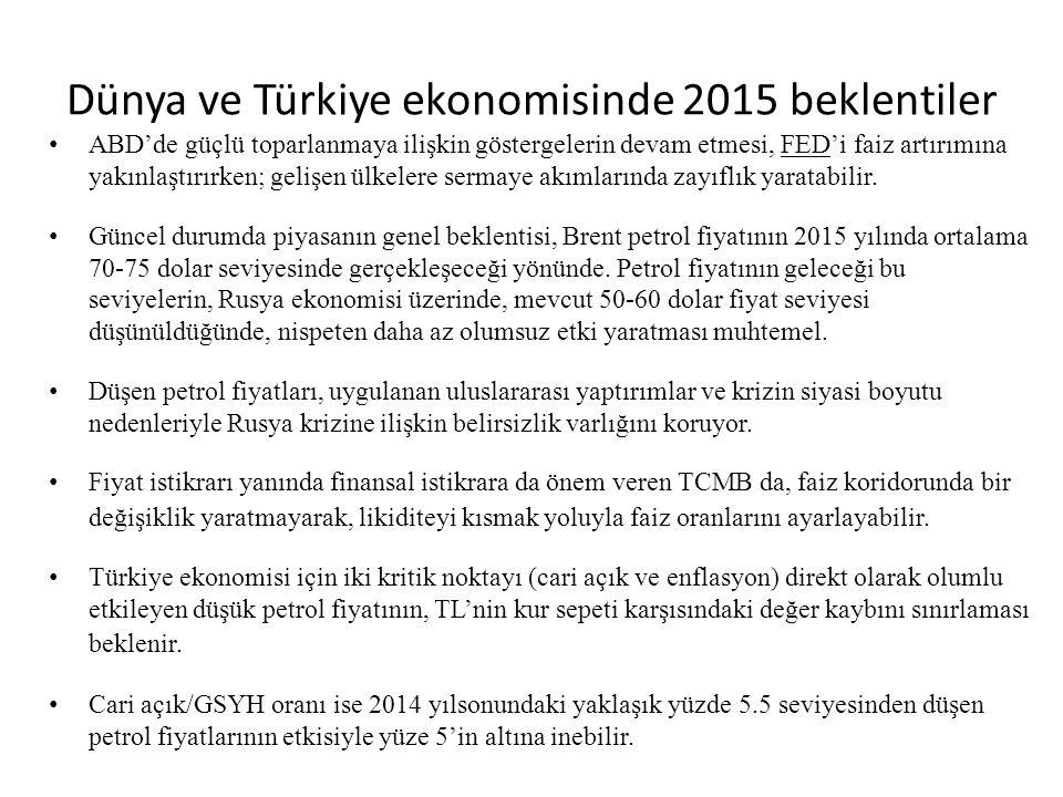Dünya ve Türkiye ekonomisinde 2015 beklentiler