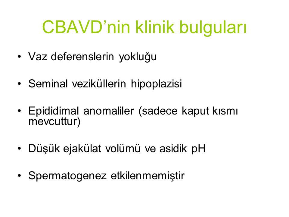 CBAVD'nin klinik bulguları