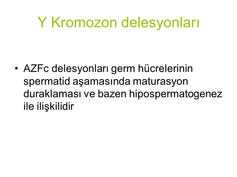 Y Kromozon delesyonları