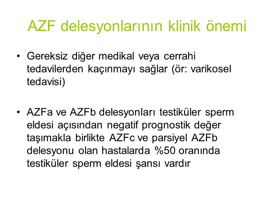 AZF delesyonlarının klinik önemi