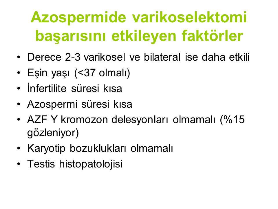 Azospermide varikoselektomi başarısını etkileyen faktörler