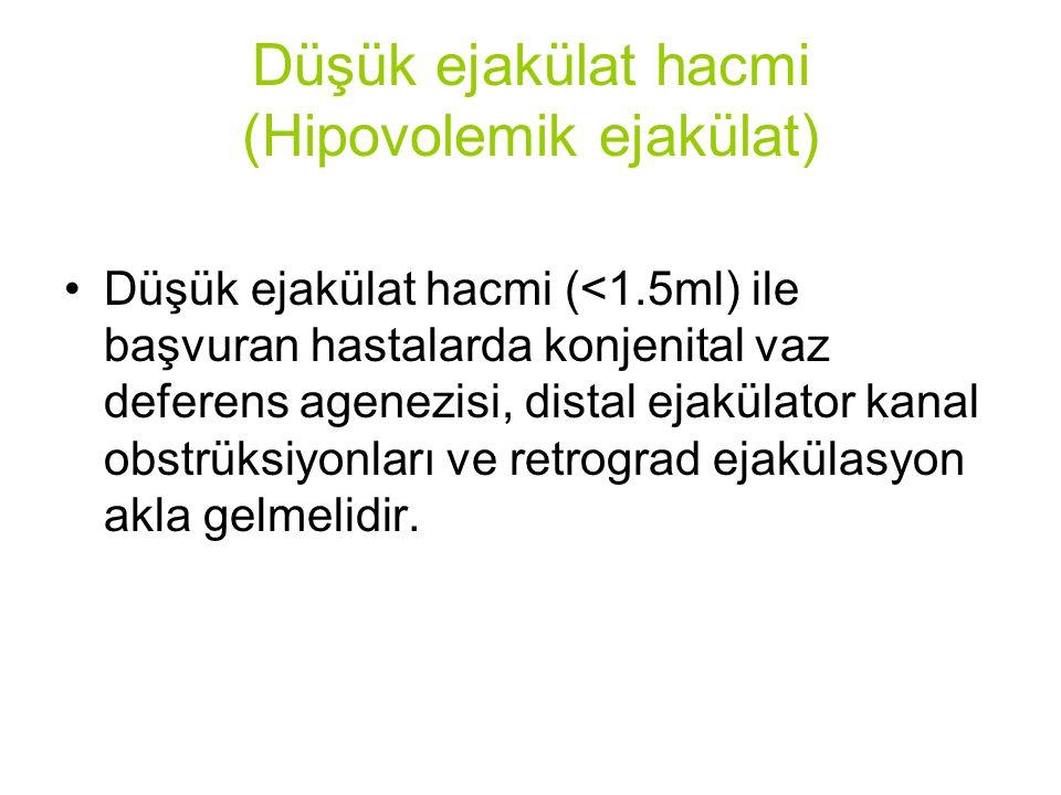 Düşük ejakülat hacmi (Hipovolemik ejakülat)