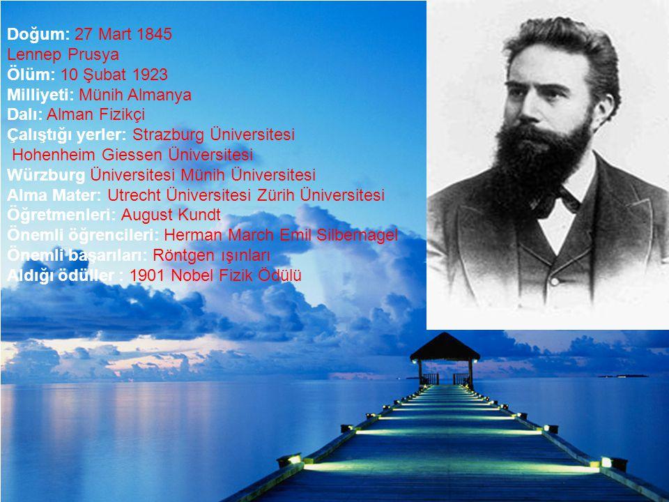 Doğum: 27 Mart 1845 Lennep Prusya
