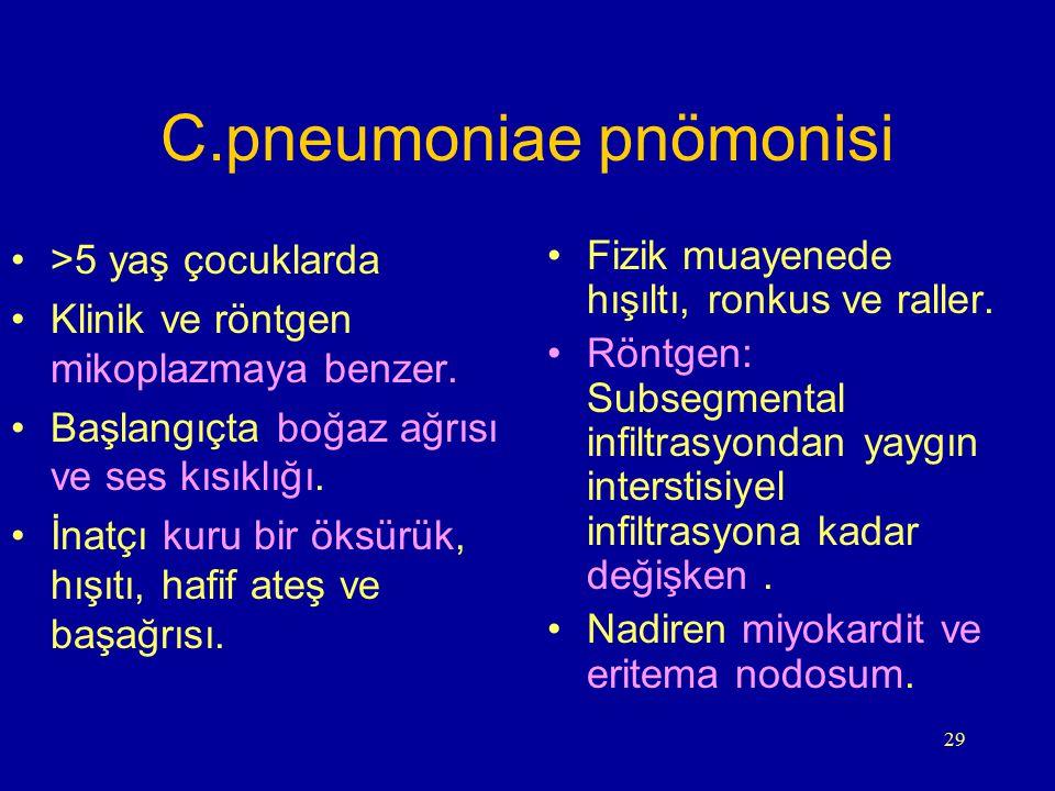 C.pneumoniae pnömonisi