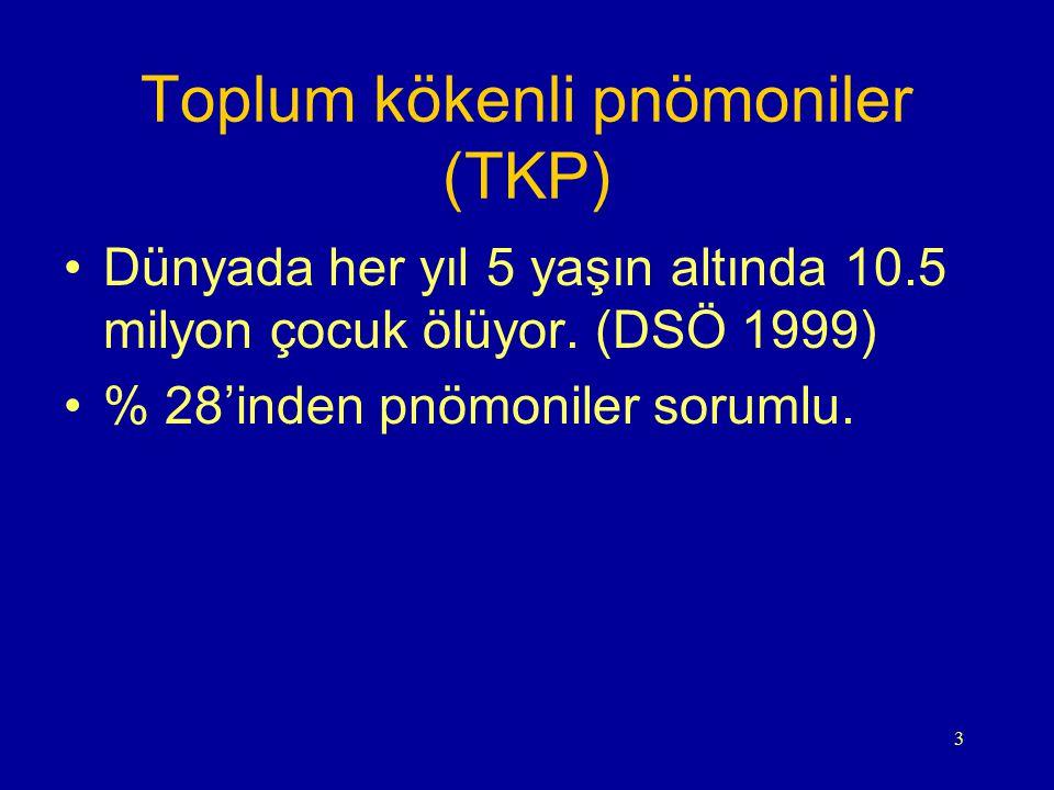 Toplum kökenli pnömoniler (TKP)