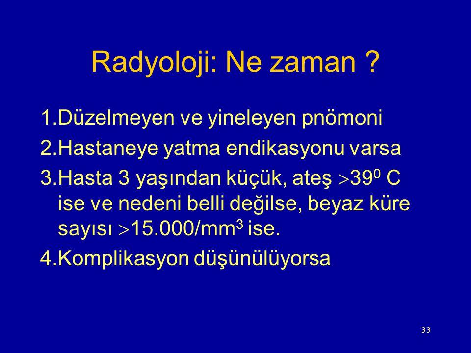 Radyoloji: Ne zaman Düzelmeyen ve yineleyen pnömoni