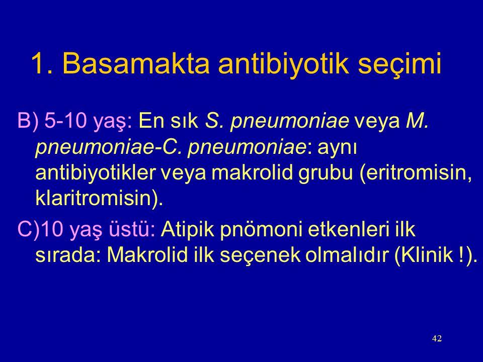 1. Basamakta antibiyotik seçimi