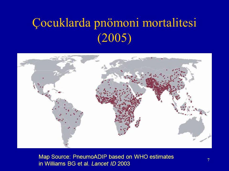 Çocuklarda pnömoni mortalitesi (2005)