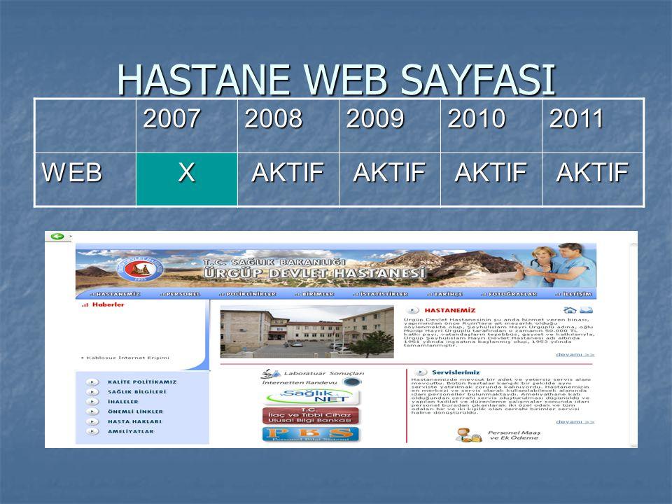 HASTANE WEB SAYFASI 2007 2008 2009 2010 2011 WEB X AKTIF