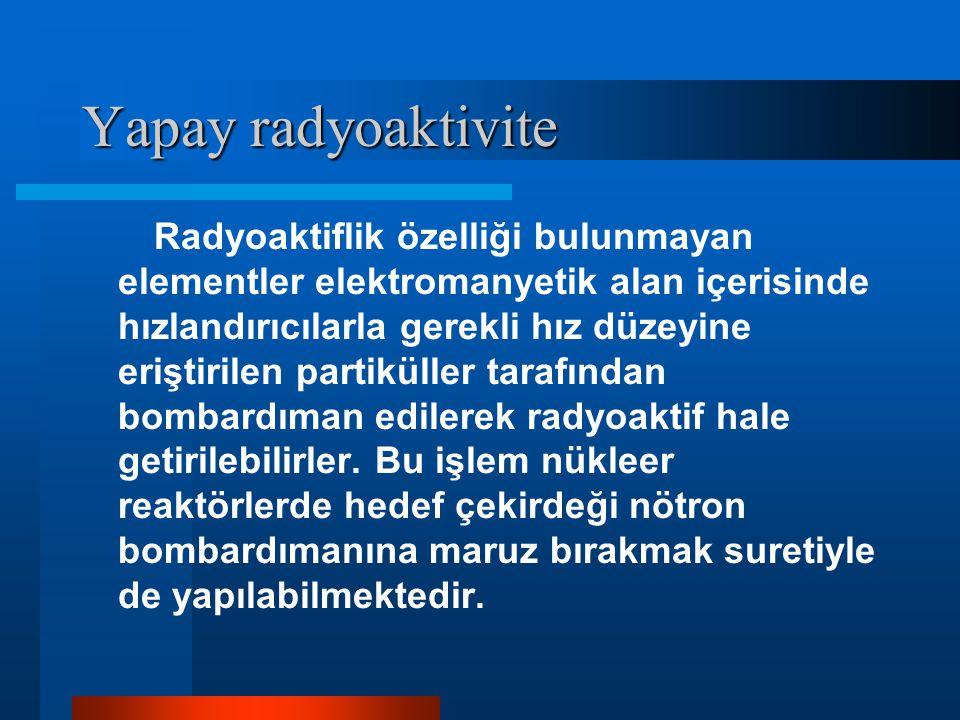 Yapay radyoaktivite