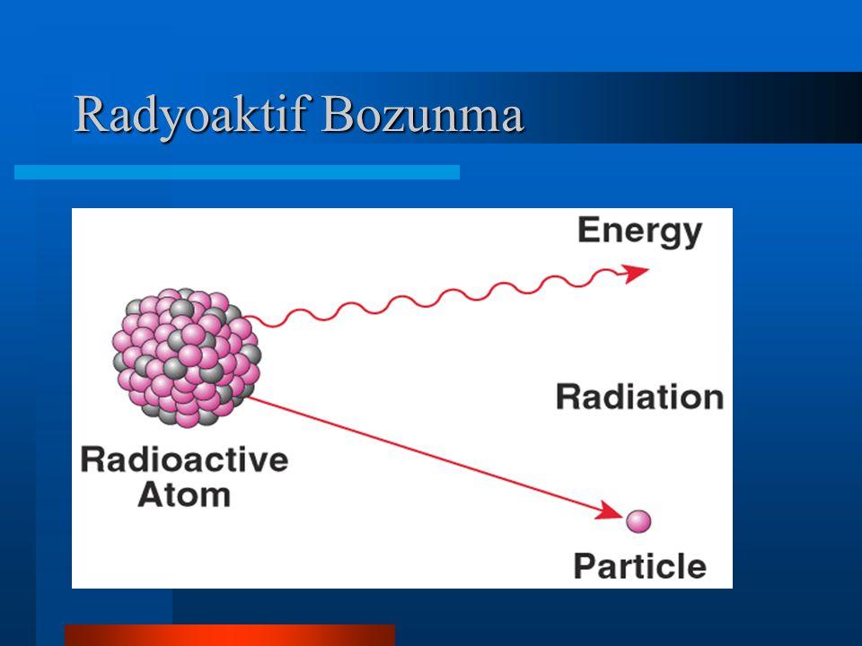 Radyoaktif Bozunma