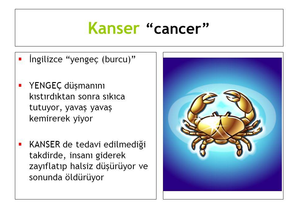 Kanser cancer İngilizce yengeç (burcu)