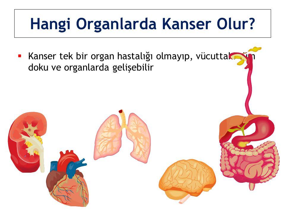 Hangi Organlarda Kanser Olur