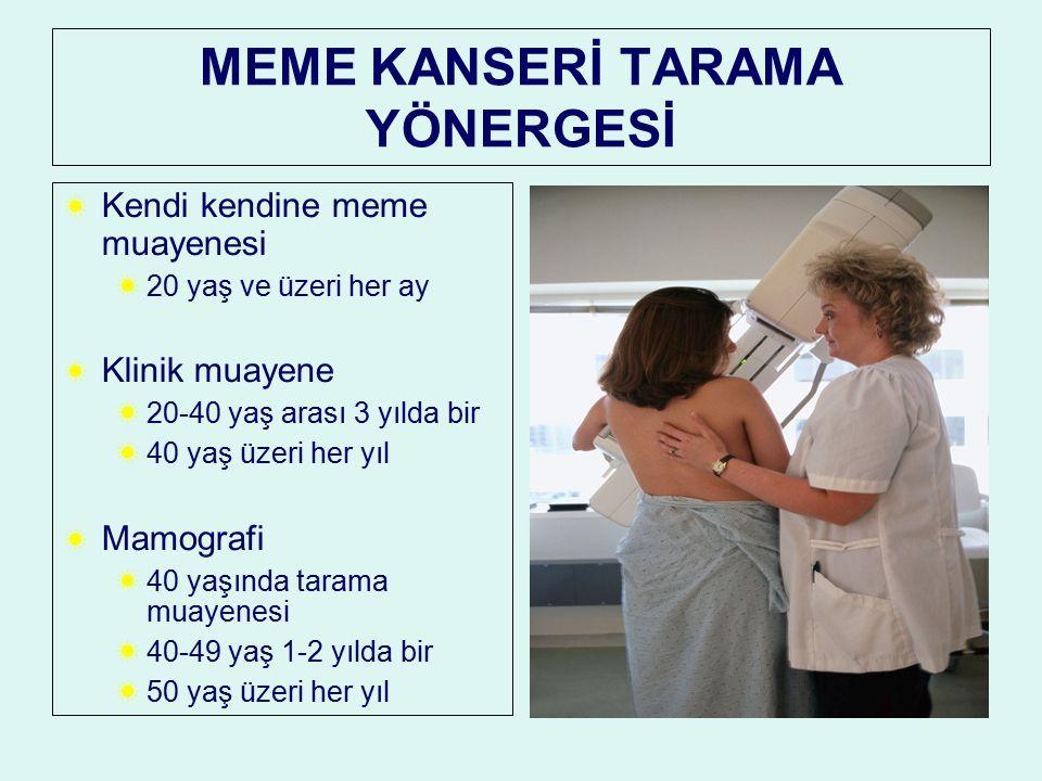 MEME KANSERİ TARAMA YÖNERGESİ