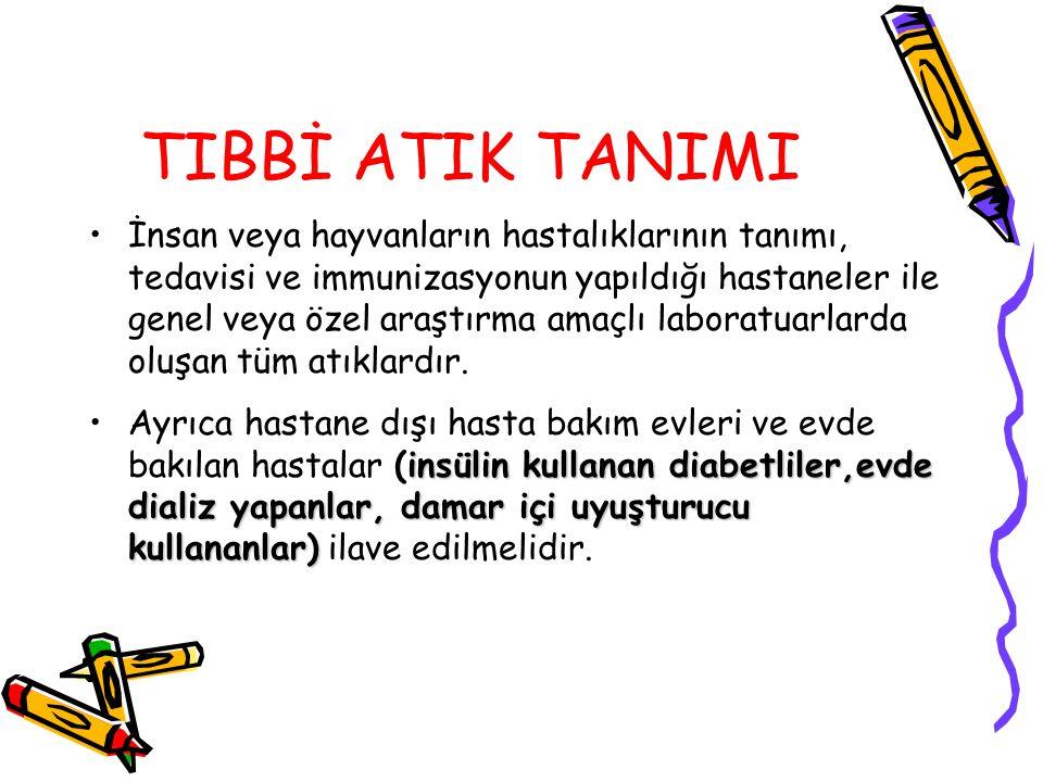 TIBBİ ATIK TANIMI