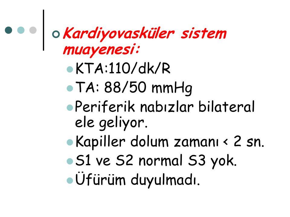 Kardiyovasküler sistem muayenesi: