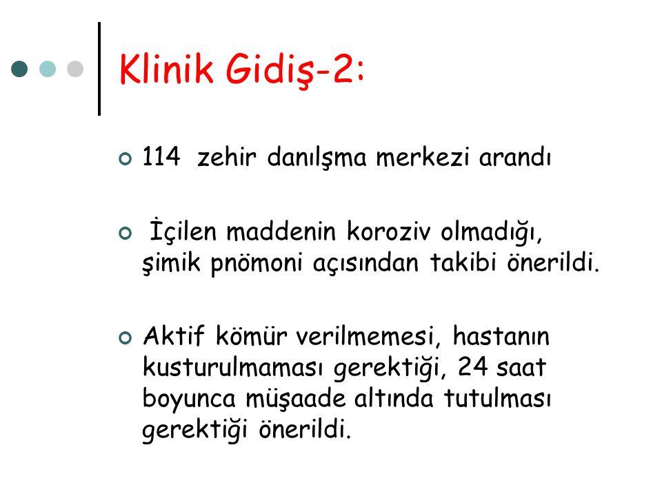 Klinik Gidiş-2: 114 zehir danılşma merkezi arandı
