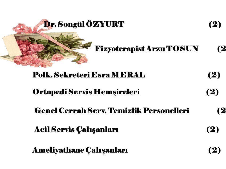 Dr. Songül ÖZYURT (2) Fizyoterapist Arzu TOSUN (2)