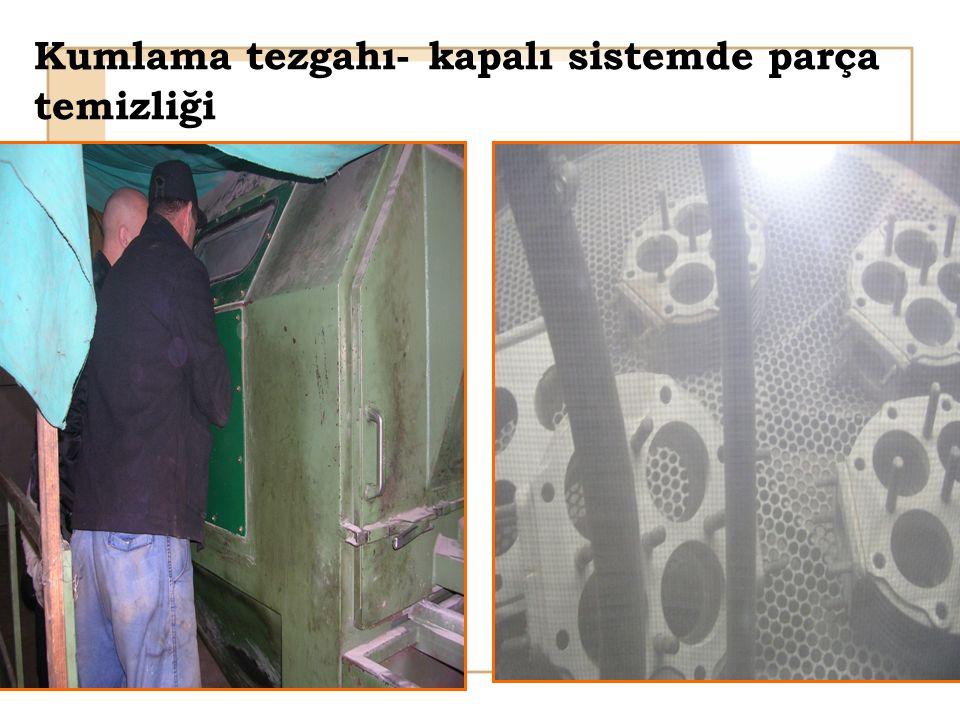 Kumlama tezgahı- kapalı sistemde parça temizliği