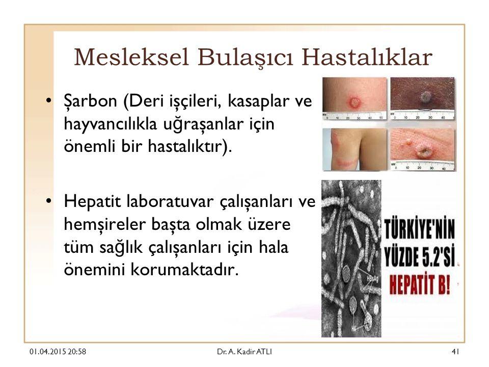 Mesleksel Bulaşıcı Hastalıklar