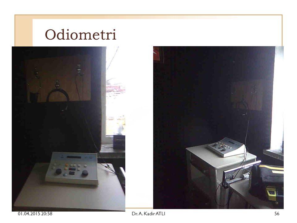 Odiometri 09.04.2017 05:20 Dr. A. Kadir ATLI