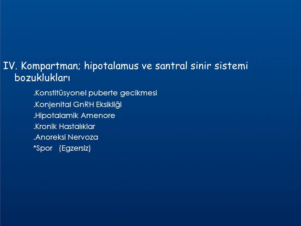 IV. Kompartman; hipotalamus ve santral sinir sistemi bozuklukları