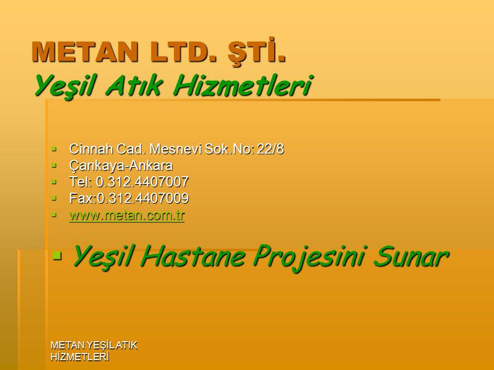 METAN LTD. ŞTİ. Yeşil Atık Hizmetleri