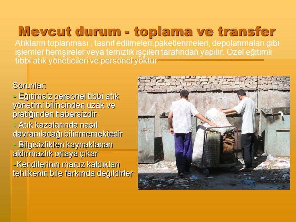 Mevcut durum - toplama ve transfer