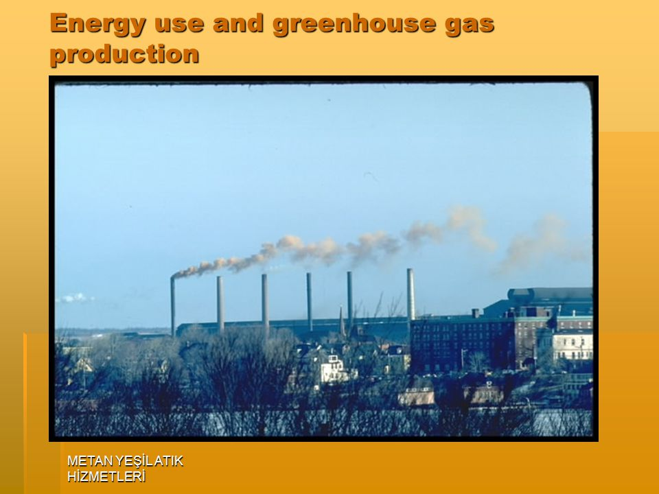 Energy use and greenhouse gas production