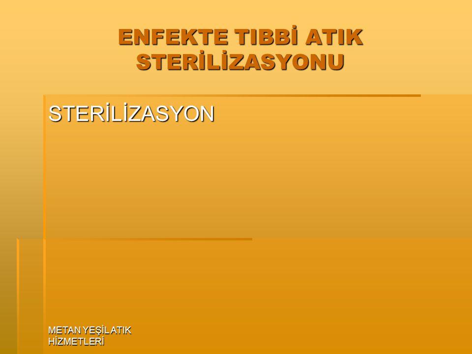 ENFEKTE TIBBİ ATIK STERİLİZASYONU