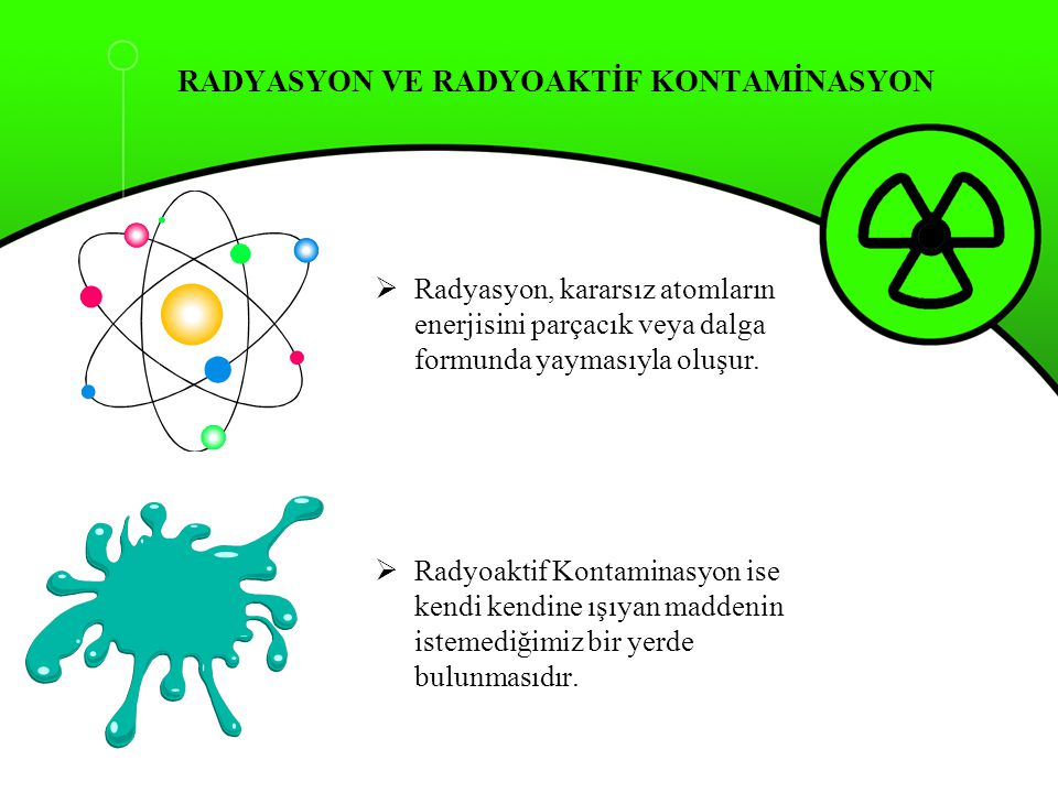 RADYASYON VE RADYOAKTİF KONTAMİNASYON