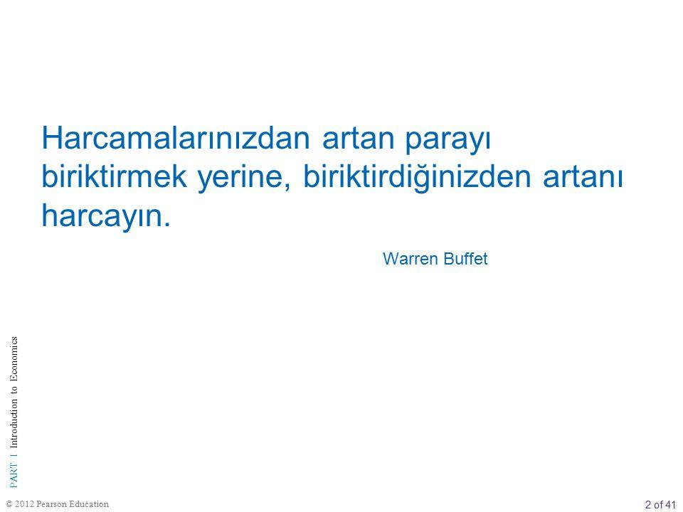 Harcamalarınızdan artan parayı biriktirmek yerine, biriktirdiğinizden artanı harcayın. Warren Buffet