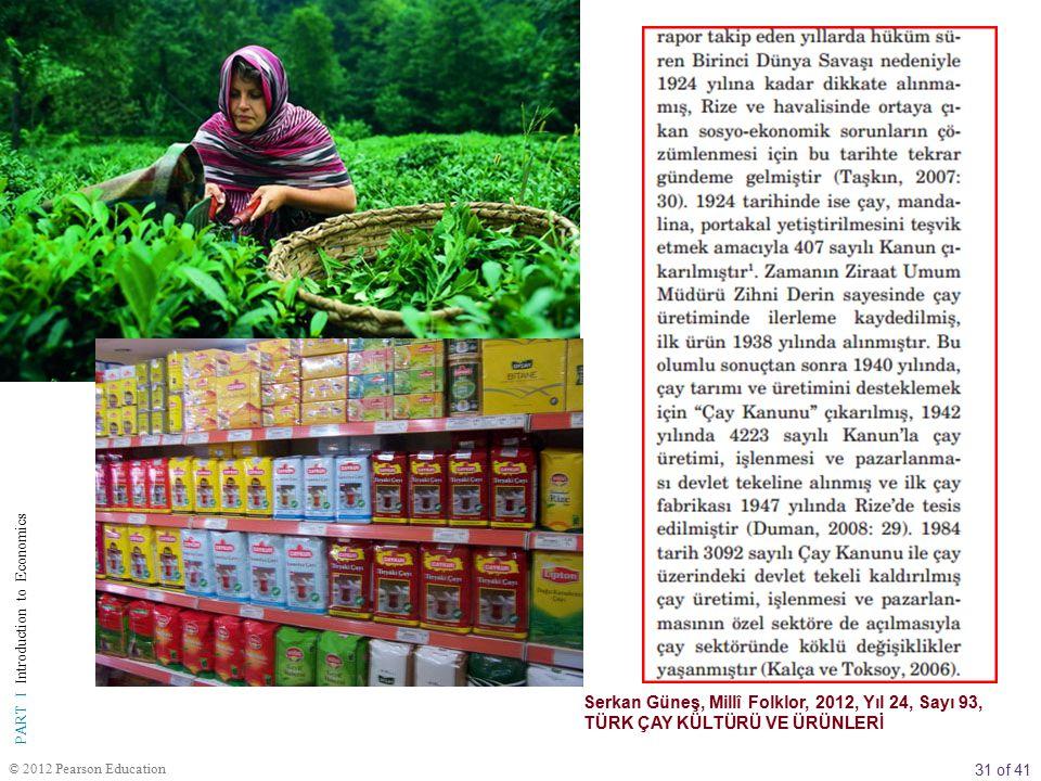 Serkan Güneş, Millî Folklor, 2012, Yıl 24, Sayı 93, TÜRK ÇAY KÜLTÜRÜ VE ÜRÜNLERİ