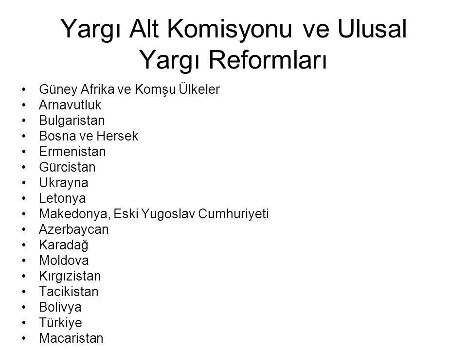 Yargı Alt Komisyonu ve Ulusal Yargı Reformları