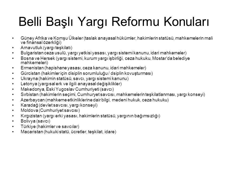 Belli Başlı Yargı Reformu Konuları