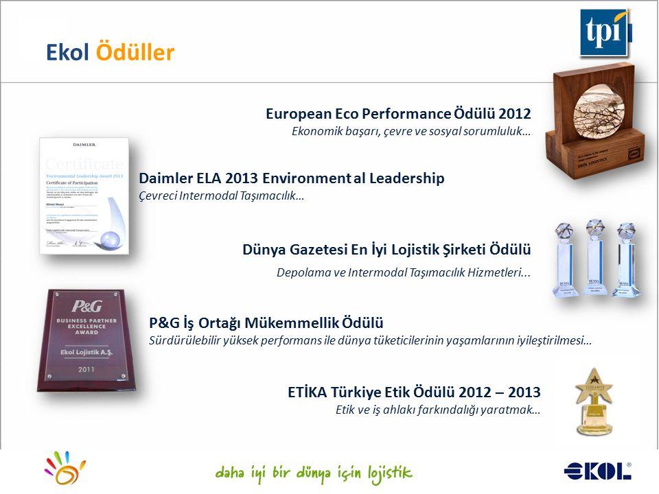 Ekol Ödüller European Eco Performance Ödülü 2012