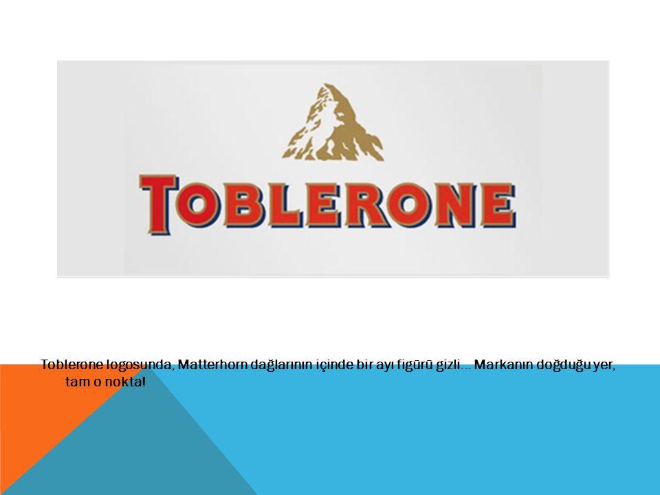 Toblerone logosunda, Matterhorn dağlarının içinde bir ayı figürü gizli