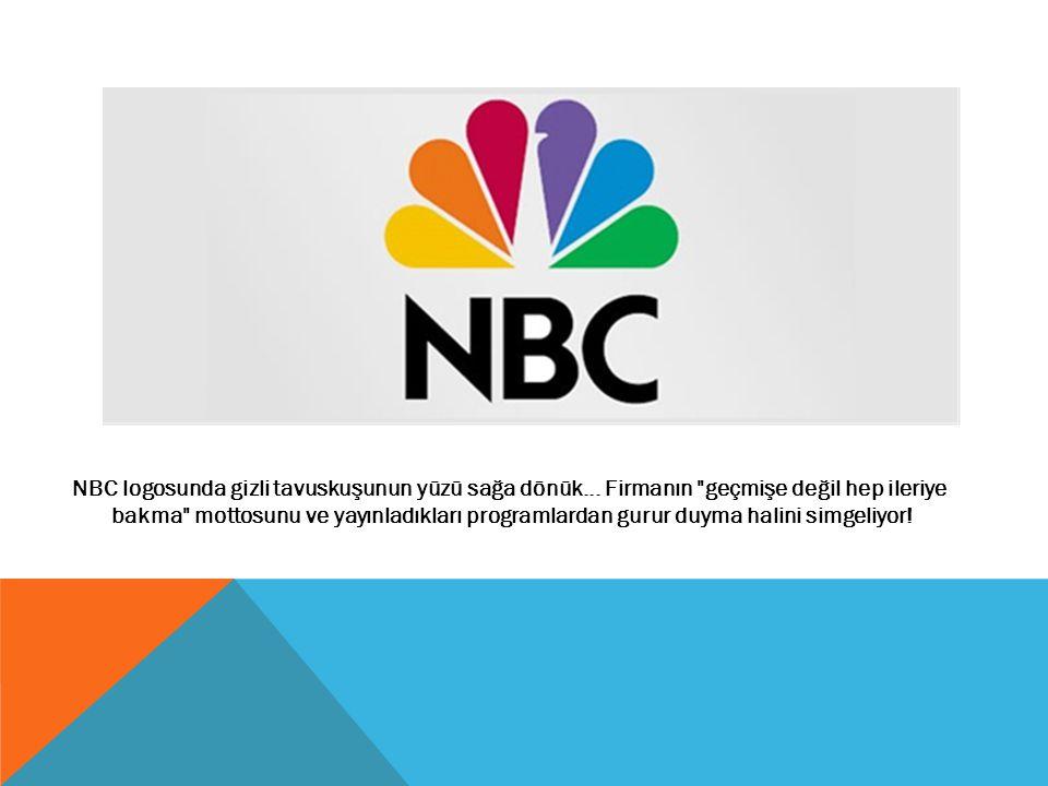 NBC logosunda gizli tavuskuşunun yüzü sağa dönük
