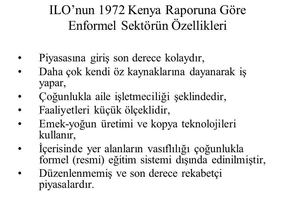ILO'nun 1972 Kenya Raporuna Göre Enformel Sektörün Özellikleri