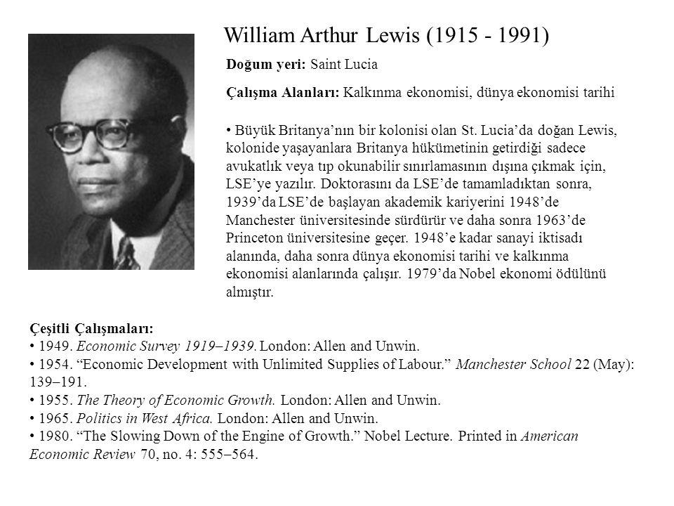 William Arthur Lewis (1915 - 1991)