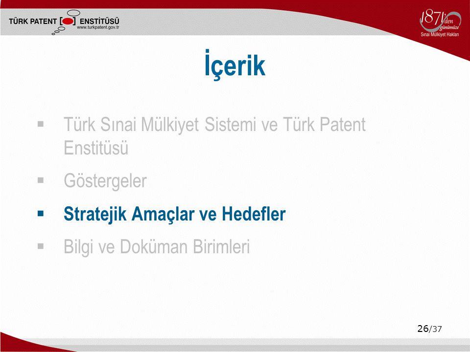 İçerik Türk Sınai Mülkiyet Sistemi ve Türk Patent Enstitüsü