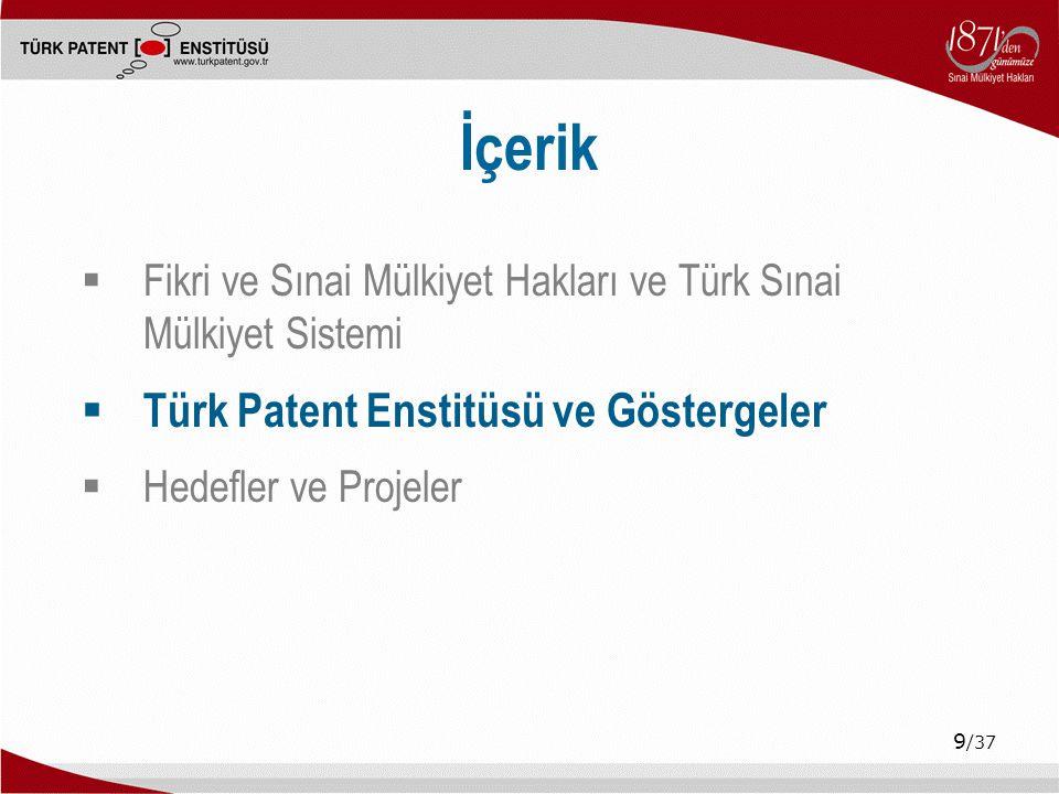 İçerik Türk Patent Enstitüsü ve Göstergeler