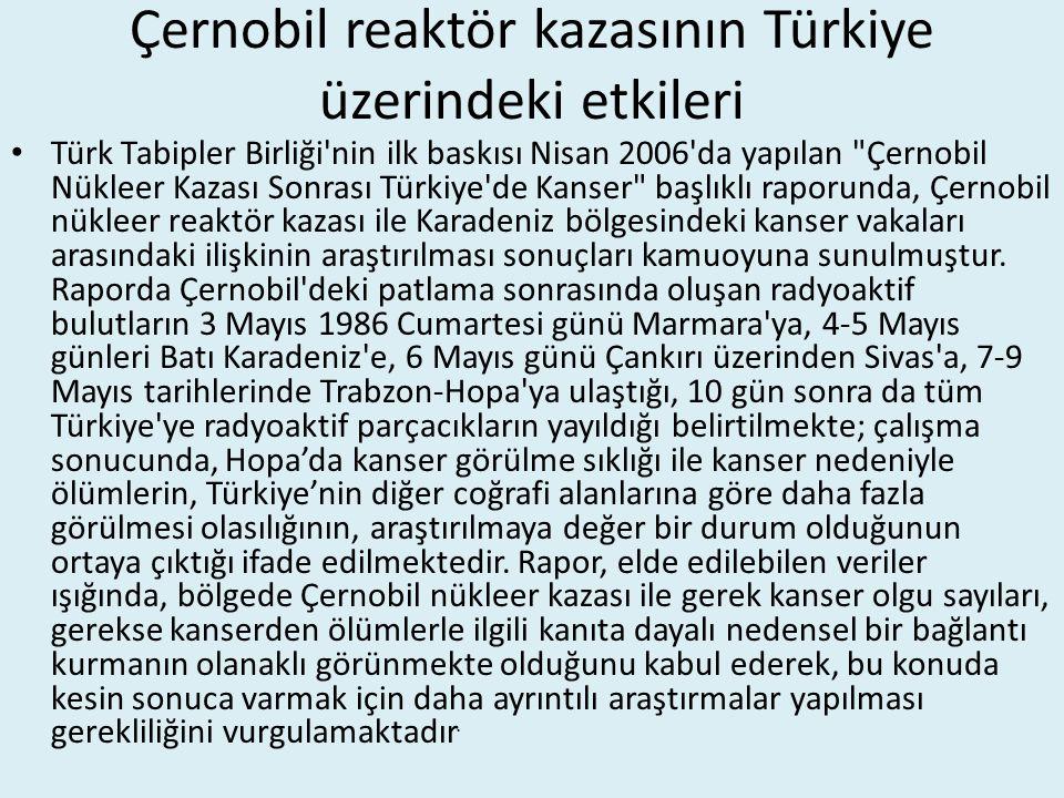 Çernobil reaktör kazasının Türkiye üzerindeki etkileri